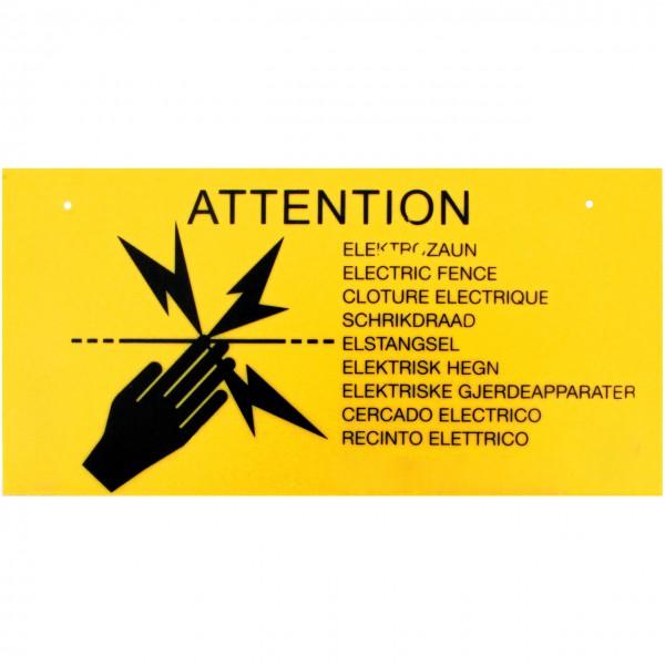 Warnschild für Elektrozaun - Kunststoff - Weidezaun - Agrar Onlineshop