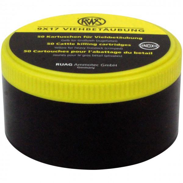 Treibkartuschen gelb, 9x17mm - Schlachtschusspatronen - Fleischverarbeitung