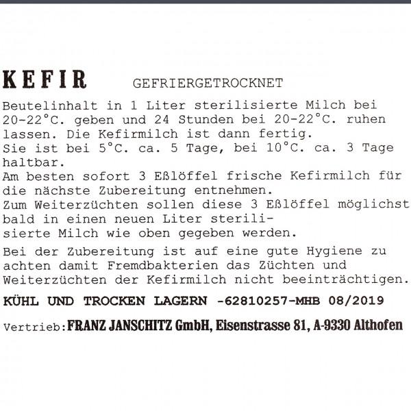 Agrar Webshop - Kefirkultur - Herstellung von Kefir