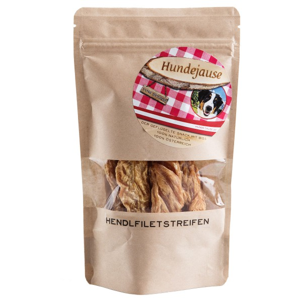 Hundejause - Hühnerinnenfiletstreifen - Ergänzungsfuttermittel - Onlineshop
