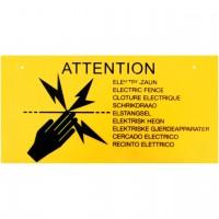 Warnschild Elektrozaun, 4 Stk